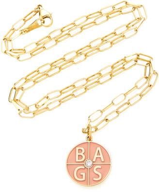 Andrea Fohrman 18K Yellow Gold Custom Four Letter Initials Pendant
