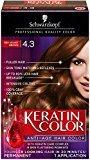 Schwarzkopf Keratin Hair Color, Red Velvet Brown 4.3, 2.03 Ounce