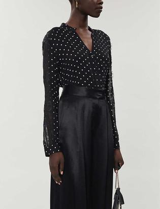 Pinko Polka dot-print chiffon blouse