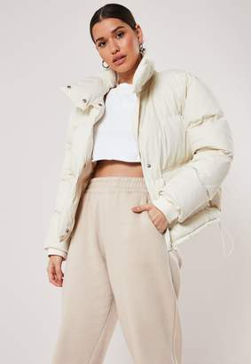 Missguided Cream Puffer Jacket