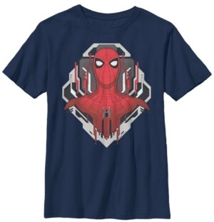 Fifth Sun Marvel Big Boy's Spider-Man Far From Home Bust Portrait Techno Frame Short Sleeve T-Shirt