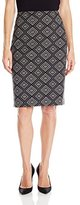 Kasper Women's Geometric Jacquard Straight Skirt