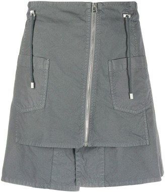 Mr & Mrs Italy Zipped Drawstring Mini Skirt