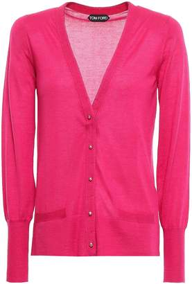 Tom Ford Wool And Silk-blend Cardigan