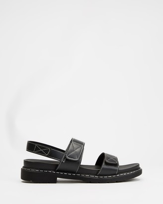 Dazie - Women's Black Strappy sandals - Trove Sandals - Size 5 at The Iconic