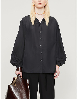 Joseph Bowell collarless silk blouse