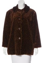 Philosophy di Alberta Ferretti Faux Fur Short Coat