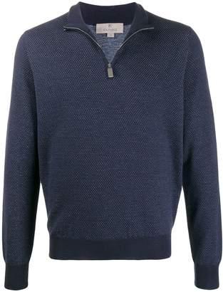 Canali half-zip long sleeve jumper