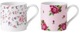 Royal Albert 2 Mugs Rose Confetti/New Country Roses Pink