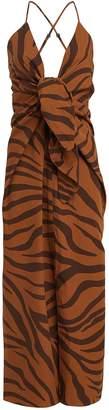 Mara Hoffman Lolita Tiger-Printed Poplin Dress