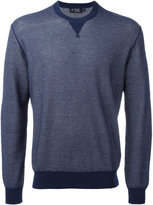 Hackett neck detail sweatshirt - men - Cotton/Cashmere - XXL