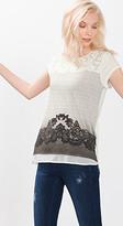 Esprit OUTLET layered lace print t-shirt