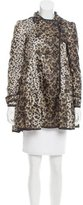 RED Valentino Leopard Print Windbreaker Jacket