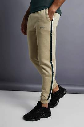 boohoo MAN Skinny Taped Joggers