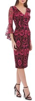Carmen Marc Valvo Women's Embroidered Sheath Dress
