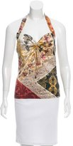 Roberto Cavalli Silk Printed Halter Top