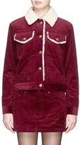 Marc Jacobs Faux shearling lined corduroy jacket