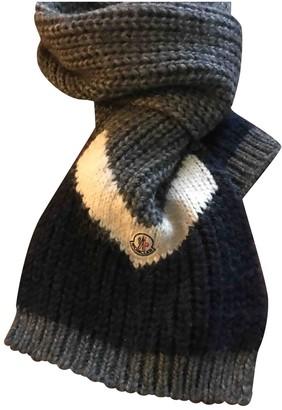 Moncler Grey Cotton Scarves & pocket squares