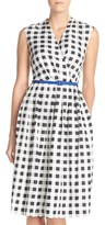 Ellen Tracy Petite Women's Gingham Twill Fit & Flare Dress