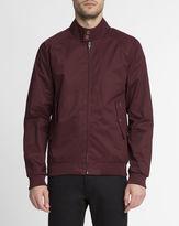 Ben Sherman Burgundy Buttoned Collar Cotton Jacket