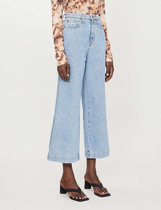 Nanushka Ramos high-waisted wide-leg jeans