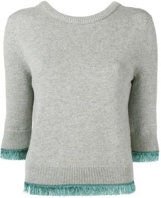 Chloé cropped contrast trim sweater