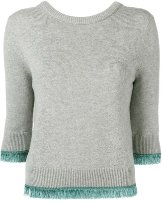 Chloé Cropped Contrast Trim Sweater