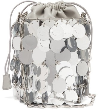 Paco Rabanne Sparkle 1966 Small Sequinned Bucket Bag - Womens - Silver
