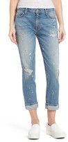 Current/Elliott Women's Fling Distressed Rolled Jeans