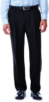 Haggar eCLoTM Stria Dress Pant - Classic Fit, Pleated Front, Hidden Expandable Waistband