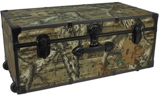 Seward Trunks Seward Trunk Mossy Oak 30-Inch Footlocker Trunk with Wheels, Mossy Oak Camo