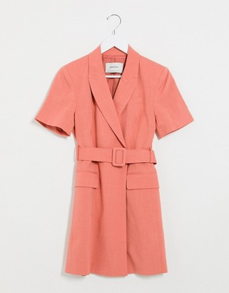 Stradivarius blazer dress in pink