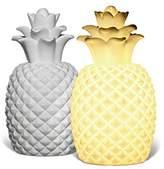 Light-Glow Pineapple Lamp, Porcelain, White
