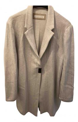 Fabiana Filippi Grey Wool Coats
