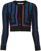 Carolina Herrera cropped lurex geometric cardigan - women - Polyester/Wool/viscose - S
