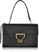 Coccinelle Black Pebbled Leather Arlettis Shoulder Bag
