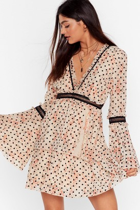 Nasty Gal Womens You've Dot My Number Floral Mini Dress - Pink - 10
