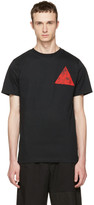 McQ Black Floral Double Triangle T-shirt