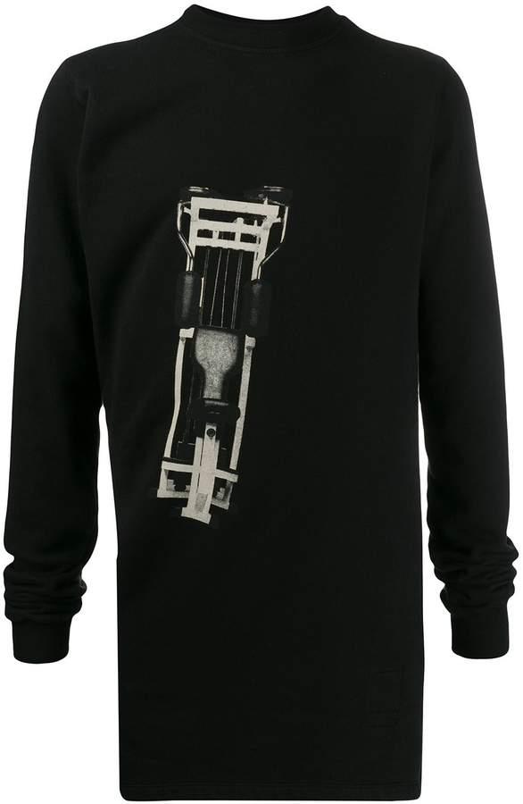 Rick Owens long printed sweatshirt