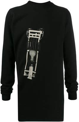 Rick Owens long printed sweatshirt