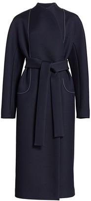 The Row Celete Contrast Stitch Coat