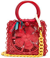 Silvia Tcherassi Camile Bag with Chain Strap in Red | FWRD