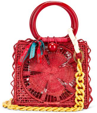 Silvia Tcherassi Camile Bag with Chain Strap in Red | FWRD