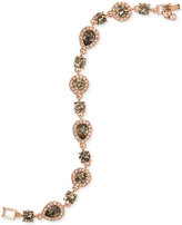Givenchy Rose Gold-Tone Crystal Flex Bracelet