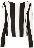 Topshop Stripe Slash Neck Jumper