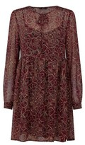 Dorothy Perkins Womens Only Brown Long Sleeve Dress
