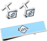 Cufflinks Inc. Men's Tampa Bay Rays Cufflinks and Money Clip Gift Set