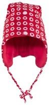 Sterntaler Red Fleece Ear Flap Fleece Hat