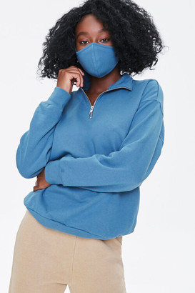 Forever 21 Half-Zip Pullover Face Mask Set