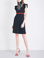 Gucci Turtleneck embroidered jersey dress